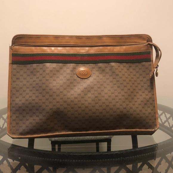 brand new fd8f5 d0e23 Gucci vintage briefcase/attaché case.
